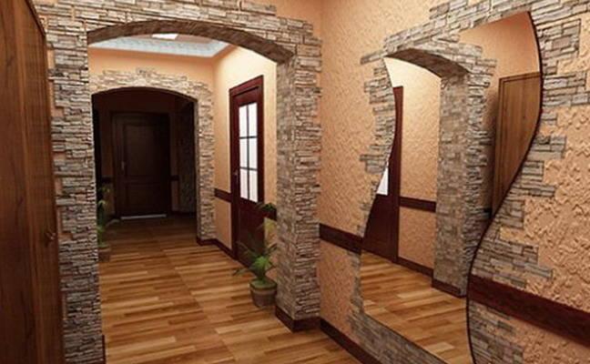 Интерьеры с декоративным камнем